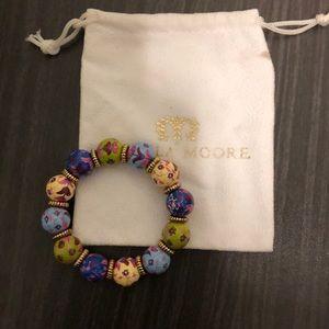 Like New Angela Moore floral Stretch Bracelet